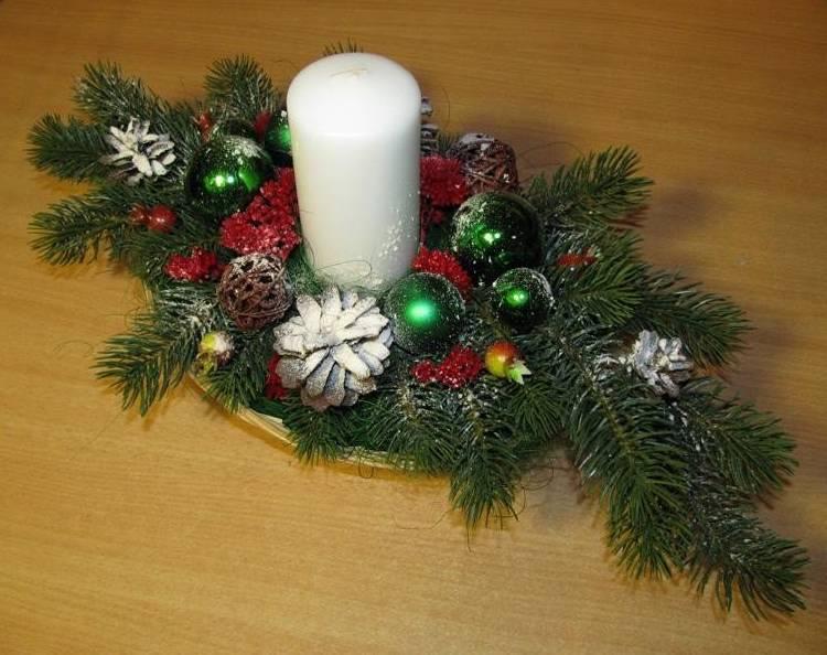свеча рождественская игрушки елочные