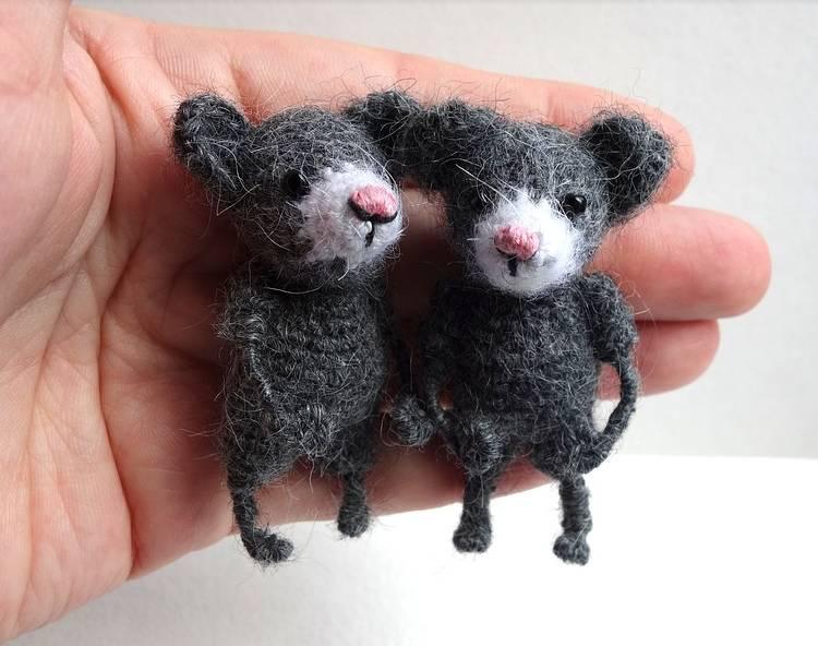 вязанные мышки
