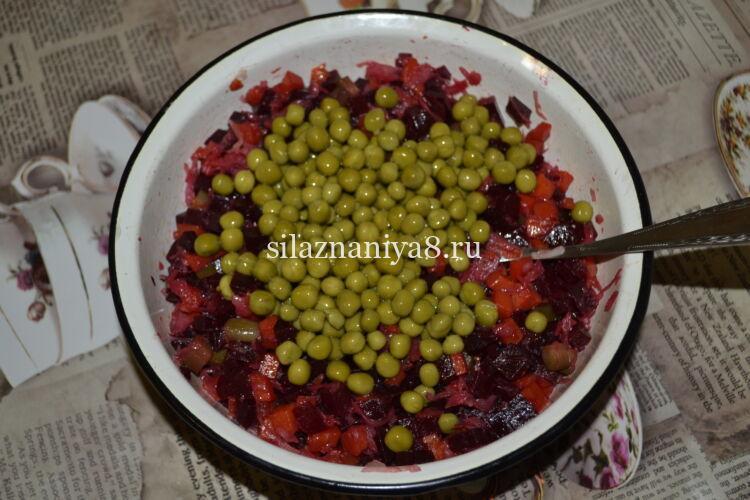Винегрет с квашеной капустой и горошком классический рецепт