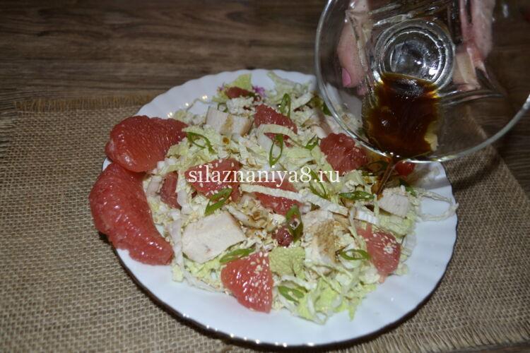Салат без майонеза салат с курицей и грейпфрутом