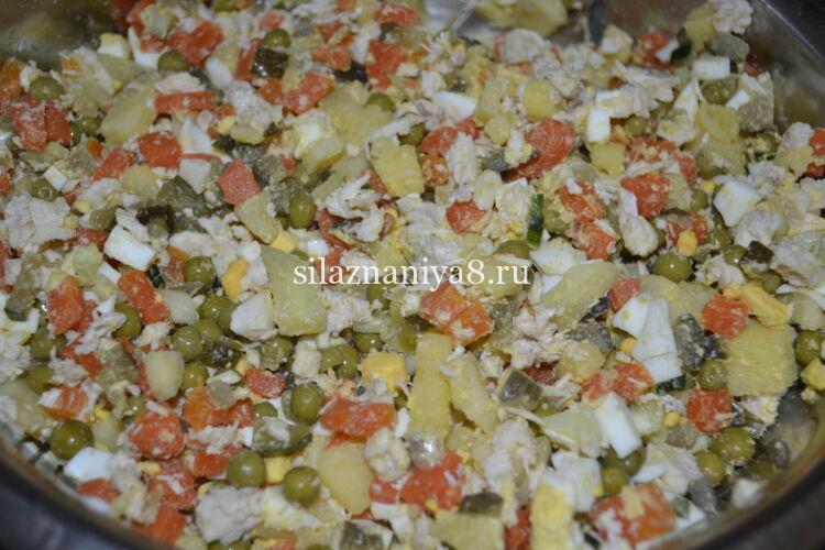 Салат оливье зимний