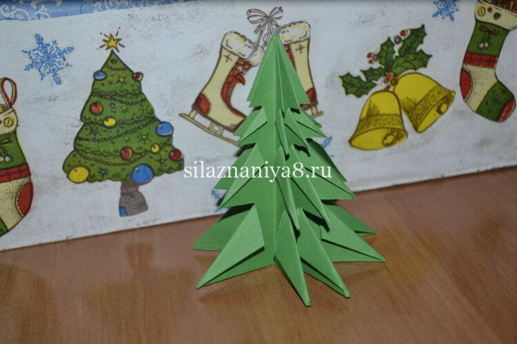 елочка из бумаги объемная оригами