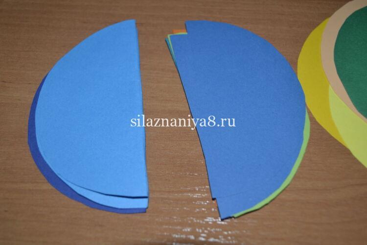 круги из бумаги для шарика соты