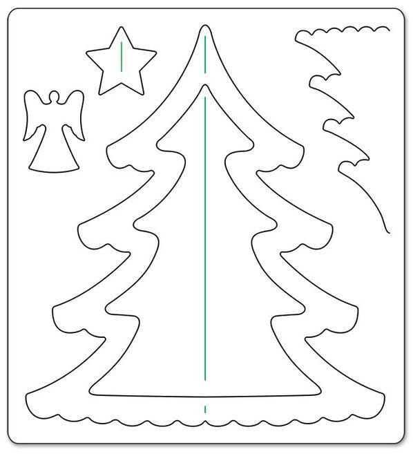 шаблон для объемной елки