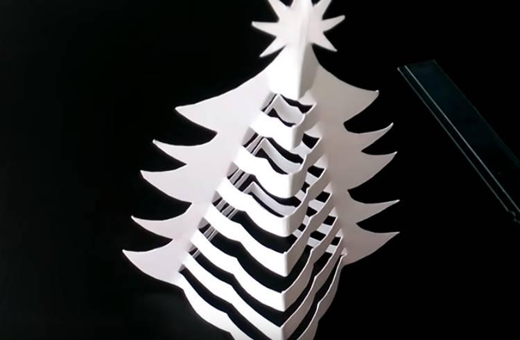 елка из бумаги 3 д