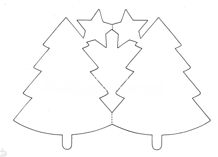 елка шаблон и схема