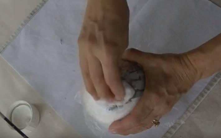 декуаж деревянного шара