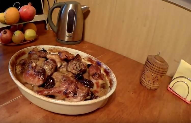 утка запеченная кусочками в духовке