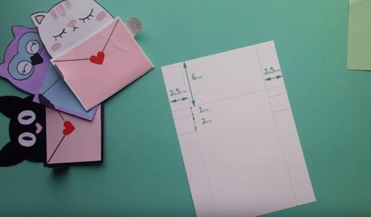 Оригинальные валентинки из бумаги без клея: мастер-класс