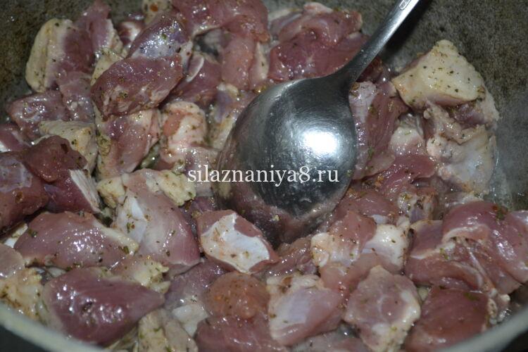 гуляш из свинины с томатным соусом