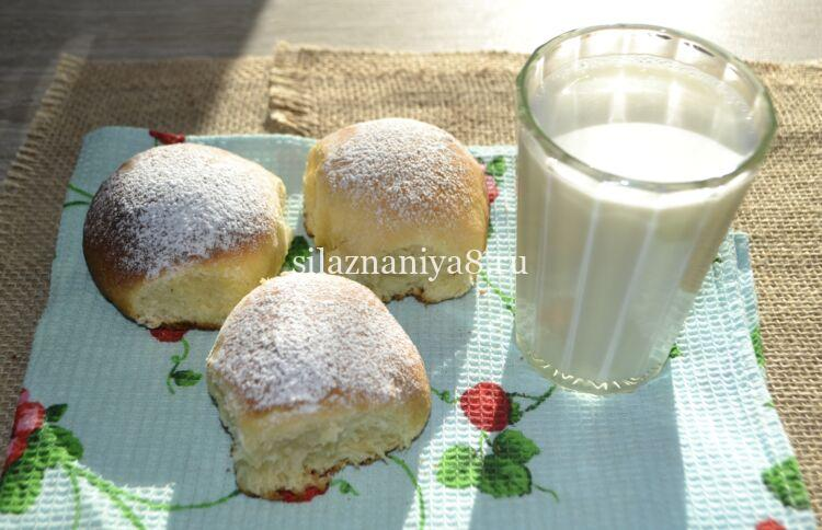 дрожжевые булочки на молоке