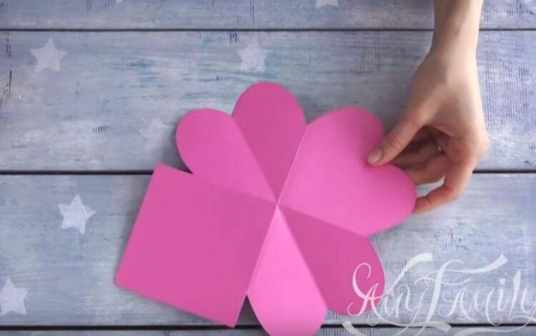 открытка валентинка из бумаги