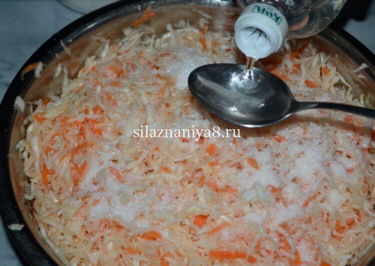салат из капусты как в столовой с морковкой и уксусом