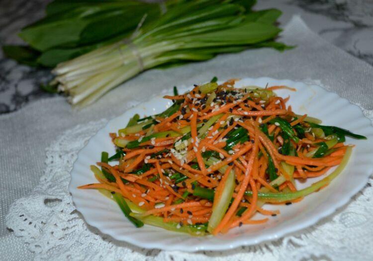 черемша по корейски с морковью