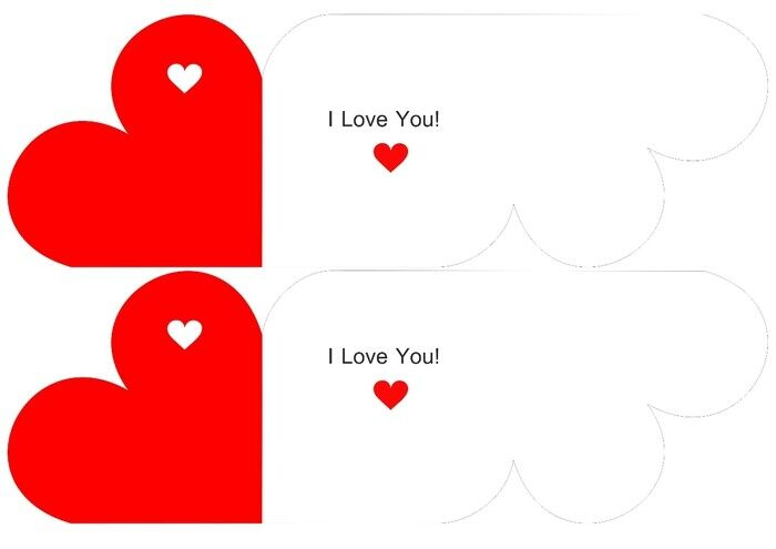 шаблоны сердечек