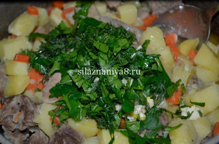 Жаркое из свинины с картошкой в казане