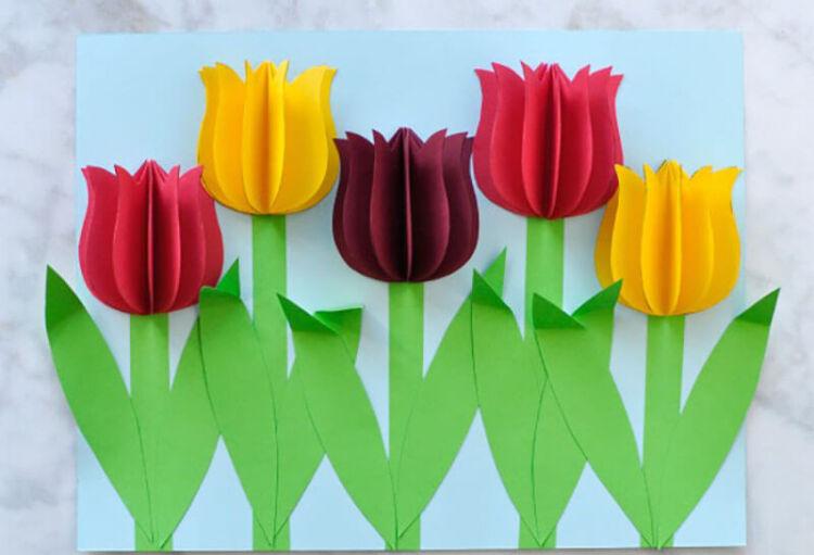 Как сделать тюльпаны