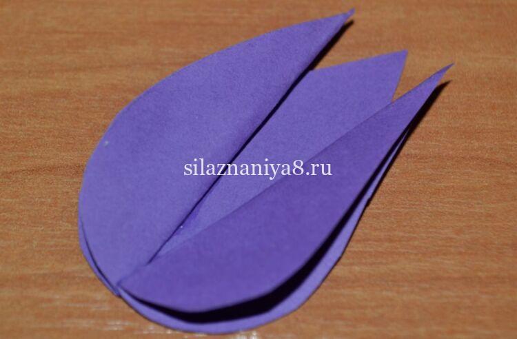Объемный тюльпан из бумаги