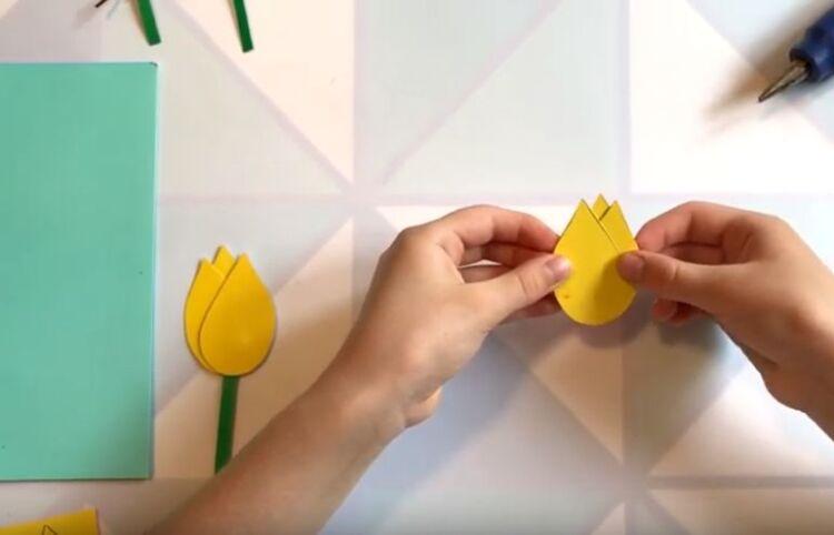 Цветы тюльпаны своими руками из бумаги