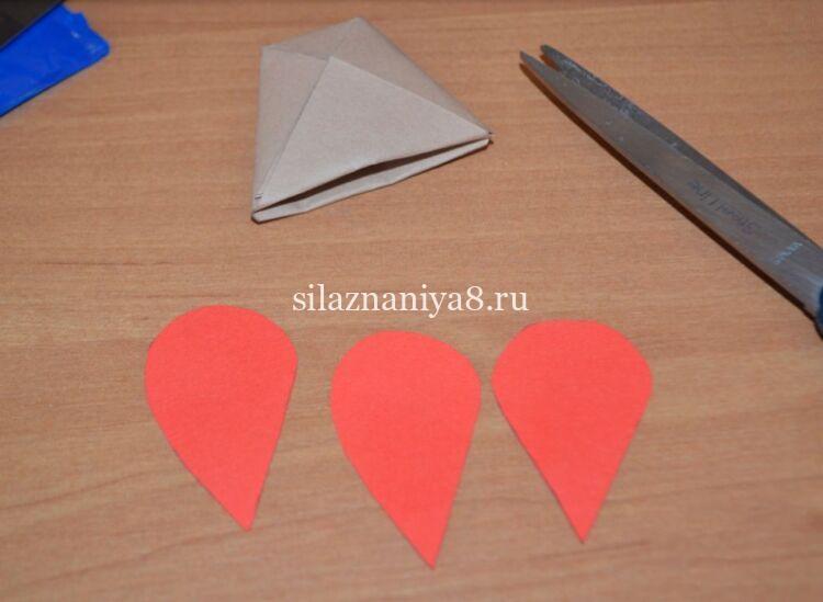 Шаблоны для тюльпанов из бумаги