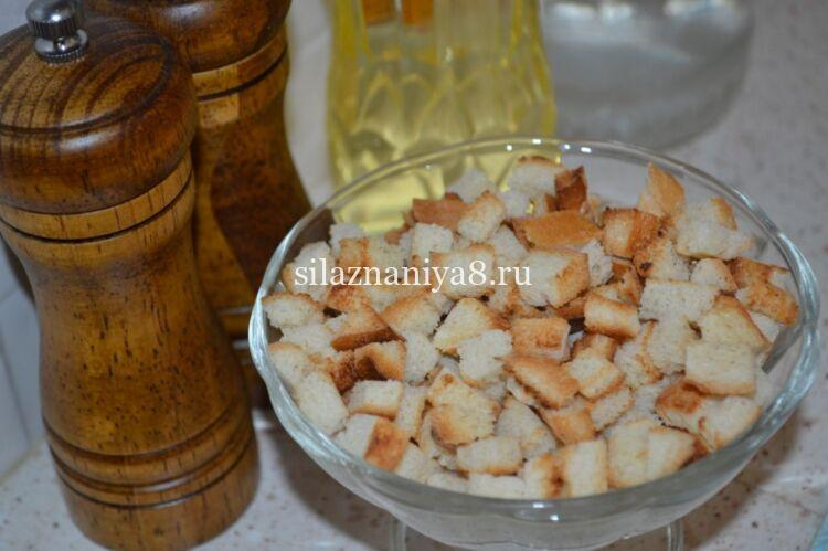 домашние сухарики из батона на сковороде