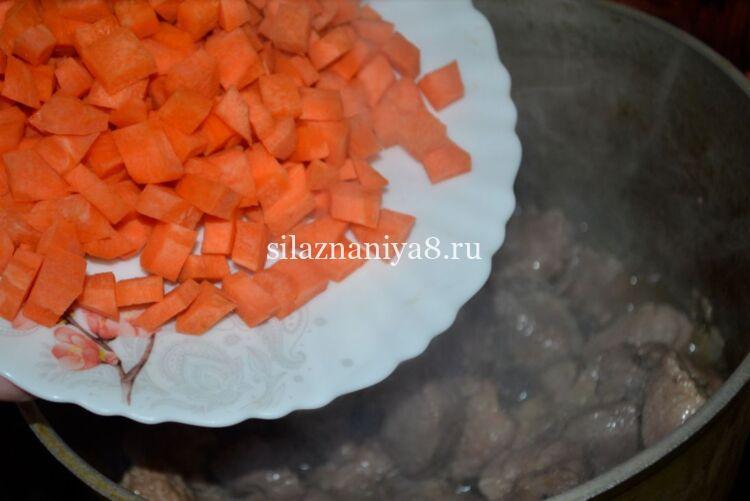 жаркое из свинины с картофелем в казане жаркое