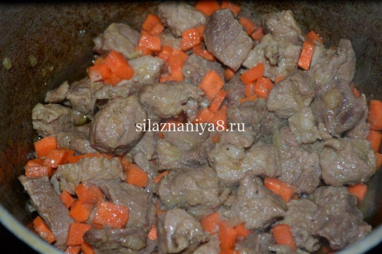 жаркое из свинины с картофелем в казане