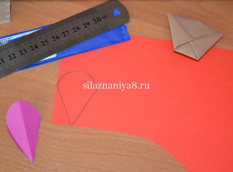 лепестки тюльпанов из бумаги