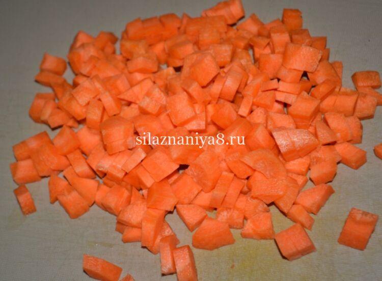 морковь нарезанная кубиками