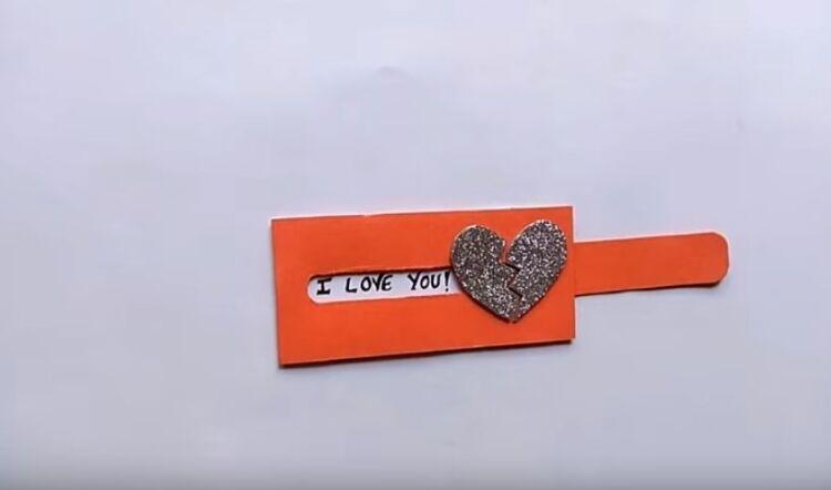 открытка из бумаги на день валентина