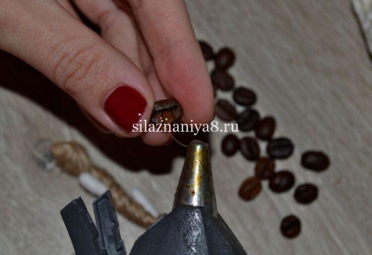 поделка веточки вербы с кофе