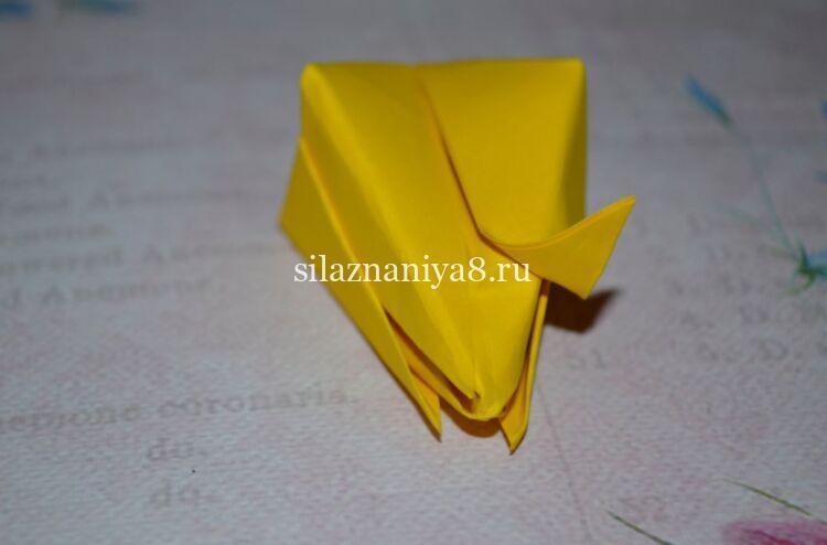 тюльпан оригами из бумаги своими руками