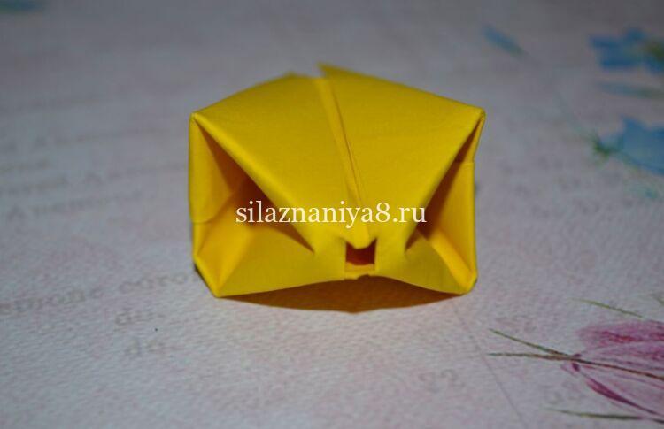 тюльпан оригами из бумаги схема