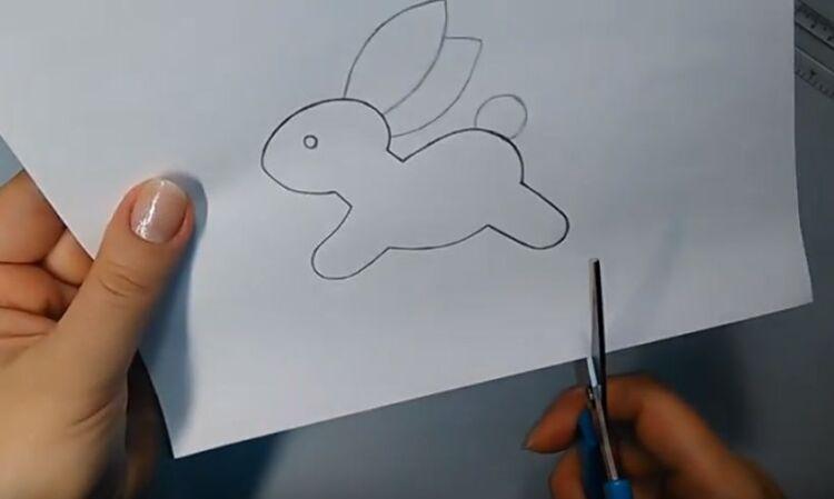 Простая поделка пасхальный заяц из фетра