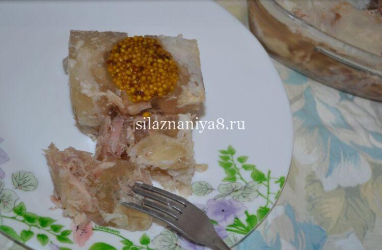 Холодец из свинины и курицы
