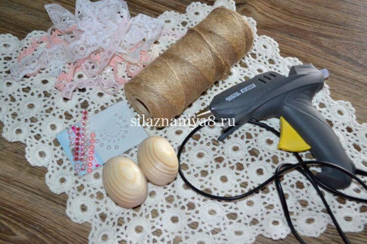 Мастер класс по изготовлению деревянного яйца нитками шпагата