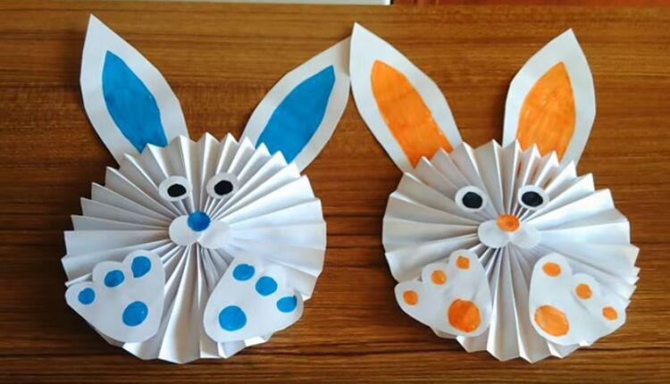 кролик из бумаги на пасху