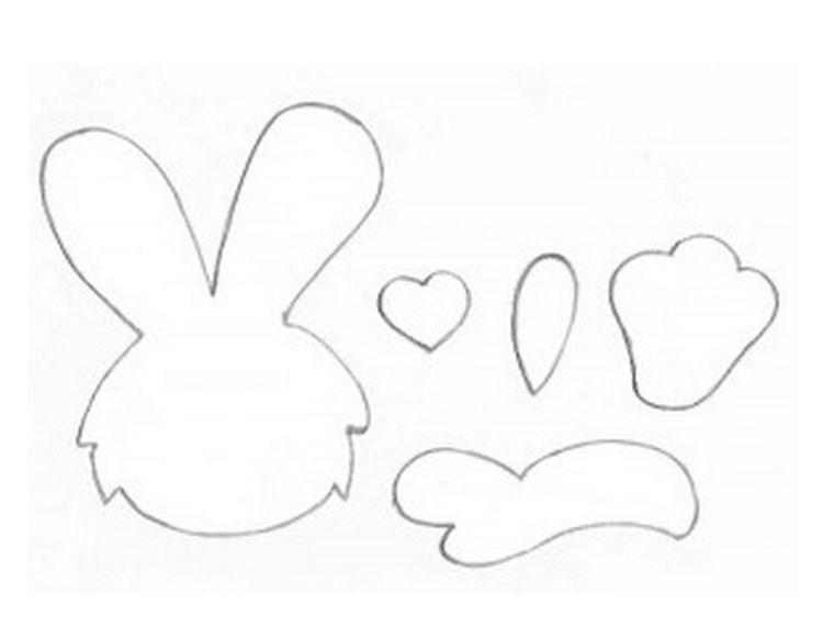 кролик пасхальный шаблоны схемы