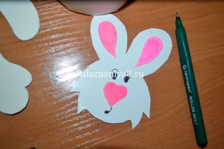 пасхальный кролик из бумаги и картона своим руками