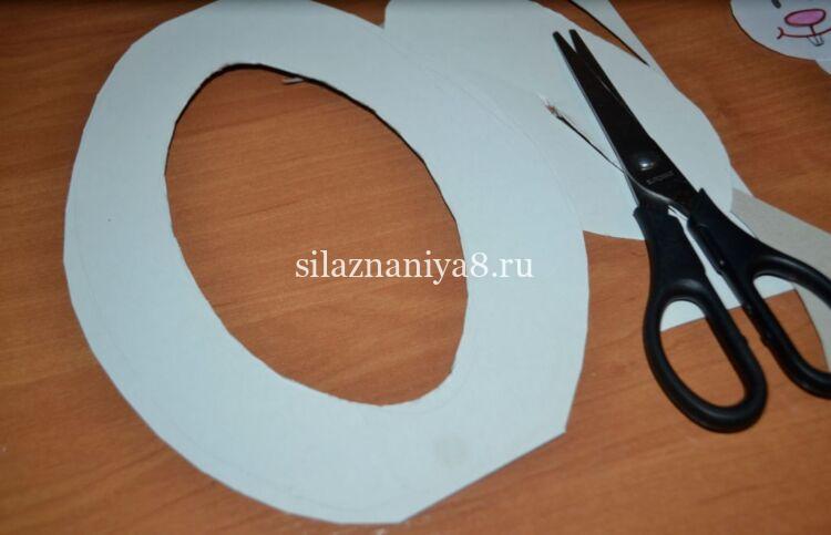 поделка кролики из бумаги