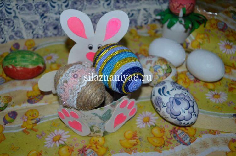 подставка для яйца на пасху из картона зайчик