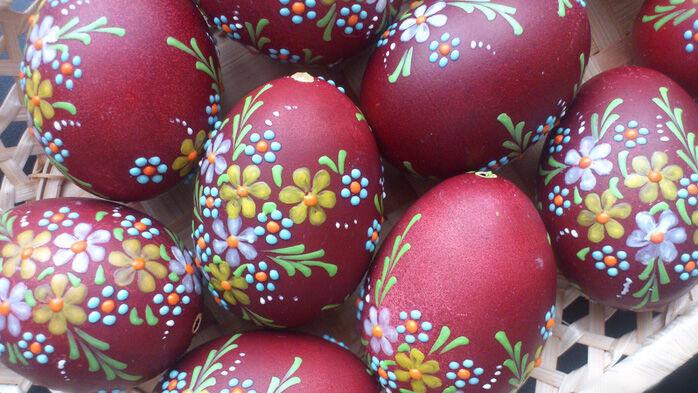 шаблон расписывания яиц краской акр
