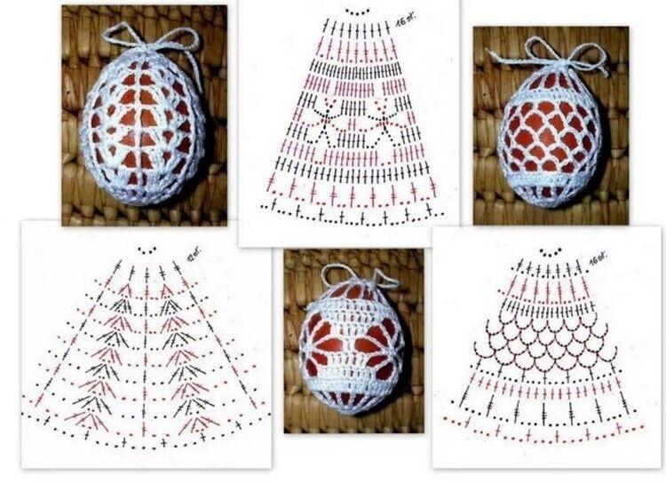 яйцо вязанное крючком