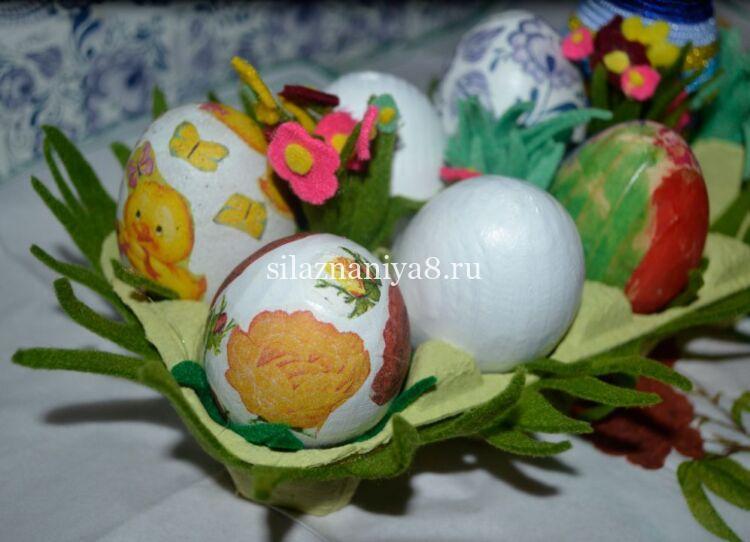 подставка для яиц на пасху их картонных коробок