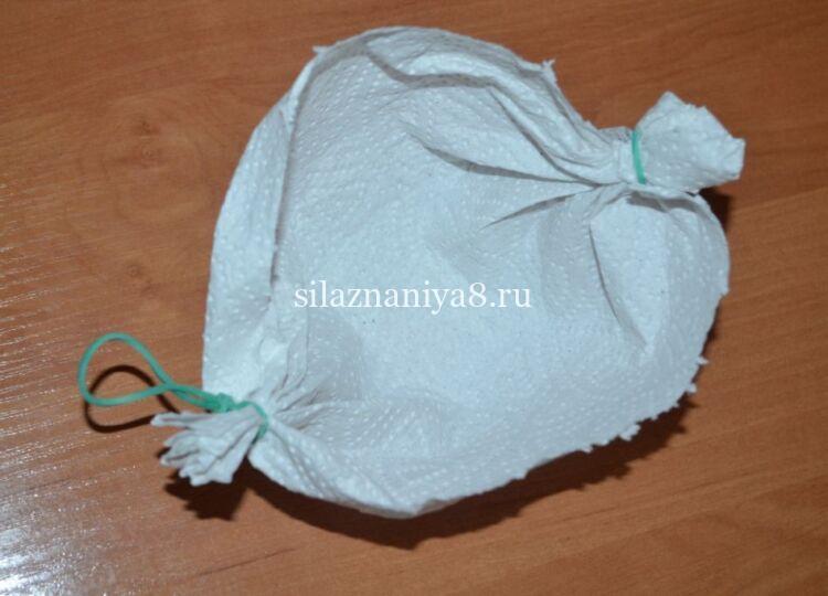 Медицинская маска из бумажного полотенца