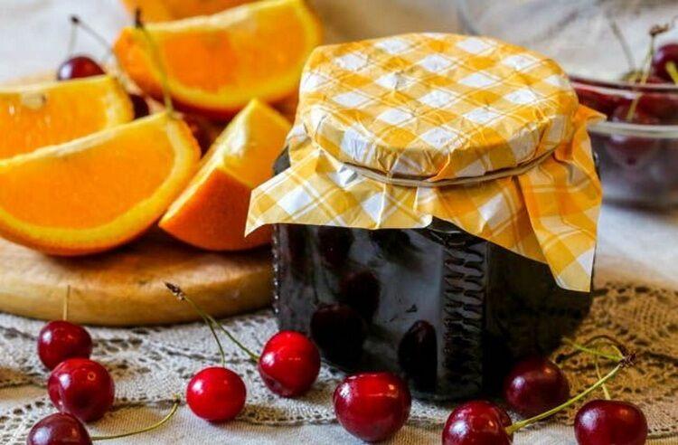 варенье из вишни с апельсином