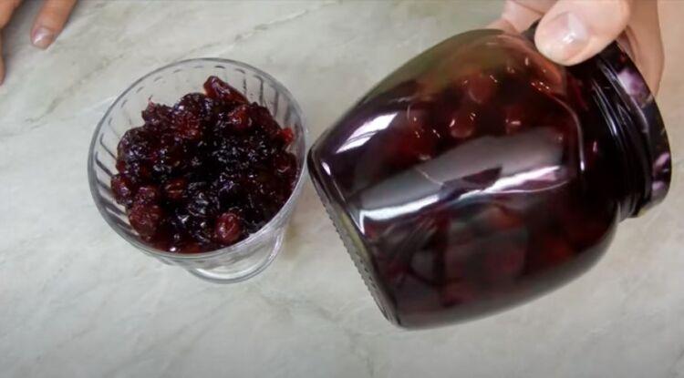вишневое варенье без косточек с желатином