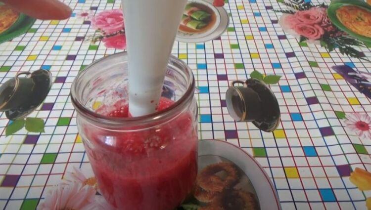 вишня с сахаром без варки блендером