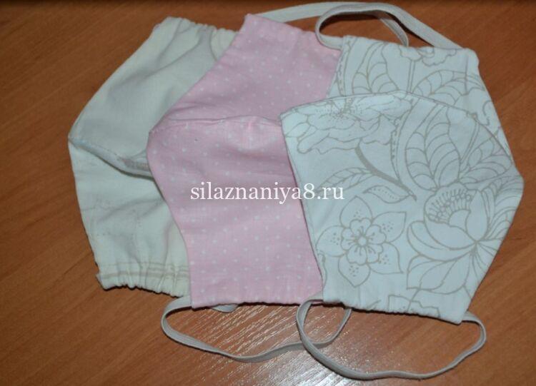 как сшить медицинскую маску из ткани своими руками без швейной машинки - шаблоны и выкройки для начинающих