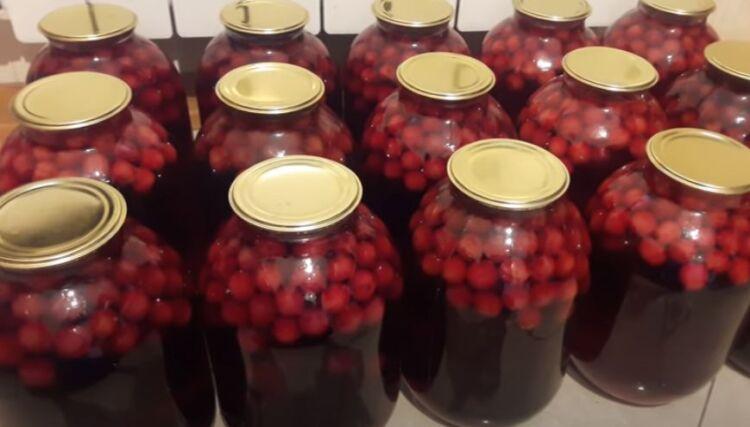 компот из вишни рецепт на зиму